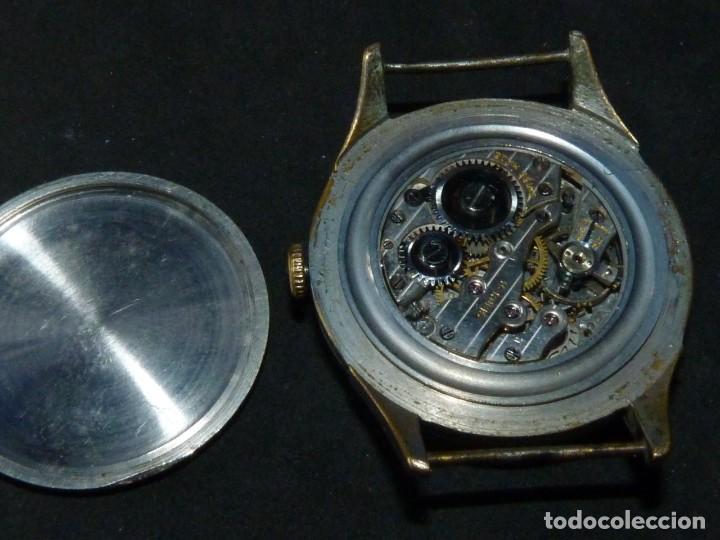 Relojes de pulsera: Bonito reloj CAUNY PRIMA tipo militar swiss made calibre AS168 precioso 15 rubis años 40 - Foto 7 - 166712138