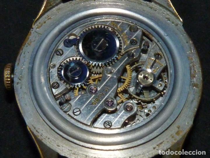Relojes de pulsera: Bonito reloj CAUNY PRIMA tipo militar swiss made calibre AS168 precioso 15 rubis años 40 - Foto 8 - 166712138
