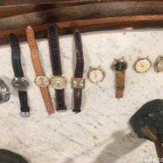 Relojes de pulsera: GRAN LOTE DE RELOJES ANTIGUOS DE CALIDAD, VER FOTOS, VARIEDAD MARCAS. Lote 166928386