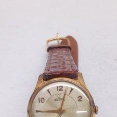 Relojes de pulsera: RELOJ TORMAS CARGA MANUAL CAJA CHAPADA ORO EN FUNCIONAMIENTO. Lote 166944764
