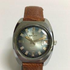 Relojes de pulsera: RELOJ CAUNY PRIMA DE CUERDA. Lote 167539593