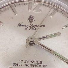 Relojes de pulsera: RELOJ HENRI SANDOZ & FILS CARGA MANUAL. Lote 167740686