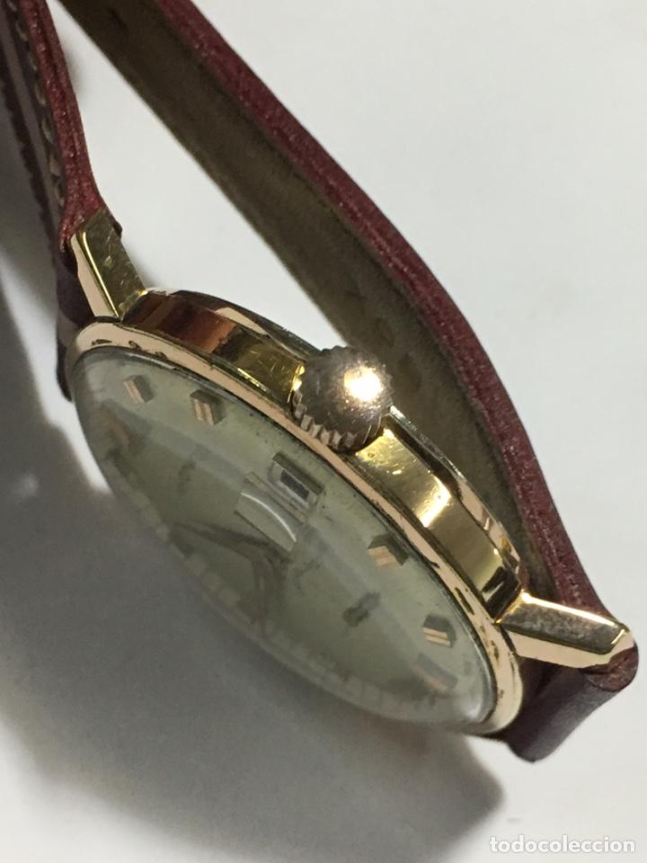 Relojes de pulsera: Reloj Nyon carga manual caja chapada oro 10 micras maquina Swiss 1691/93 en funcionamiento - Foto 3 - 167775893