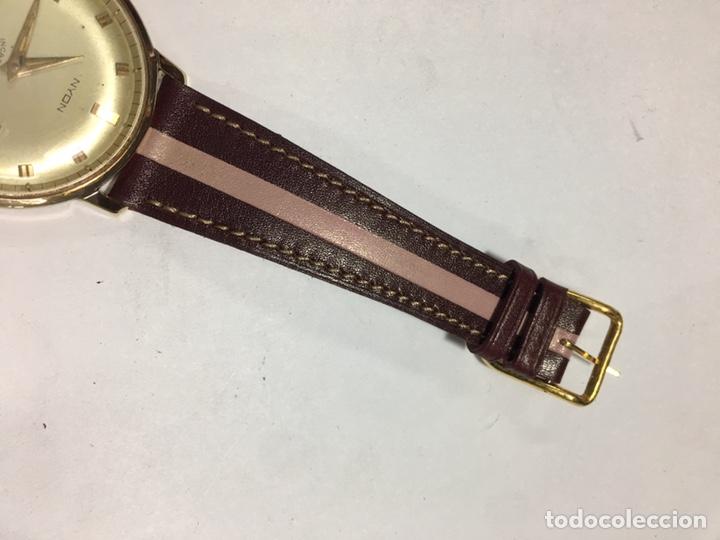 Relojes de pulsera: Reloj Nyon carga manual caja chapada oro 10 micras maquina Swiss 1691/93 en funcionamiento - Foto 6 - 167775893