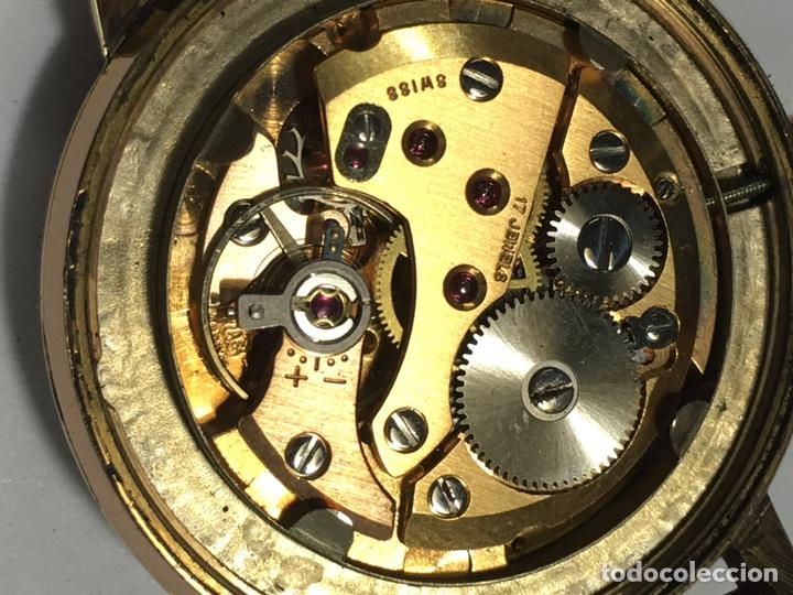Relojes de pulsera: Reloj Nyon carga manual caja chapada oro 10 micras maquina Swiss 1691/93 en funcionamiento - Foto 7 - 167775893