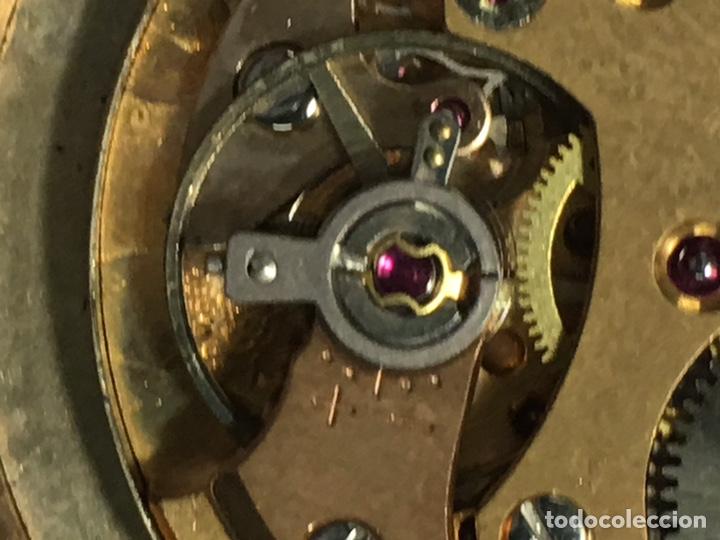 Relojes de pulsera: Reloj Nyon carga manual caja chapada oro 10 micras maquina Swiss 1691/93 en funcionamiento - Foto 8 - 167775893