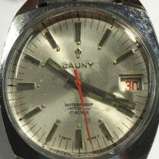 Relojes de pulsera: RELOJ CAUNY PRIMA MAQUINARIA SWISS MADE EN FUNCIONAMIENTO CON DIAL. Lote 167776238