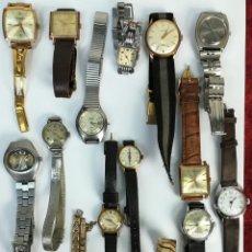 Relojes de pulsera: LOTE DE RELOJES DE MUJER PARA RESTAURACIÓN. DIVERSAS ÉPOCAS Y MATERIALES. Lote 167801672