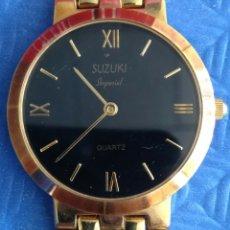 Relojes de pulsera: RELOJ CABALLERO SUZUKI IMPERIAL CHAPADO ORO. Lote 167847209