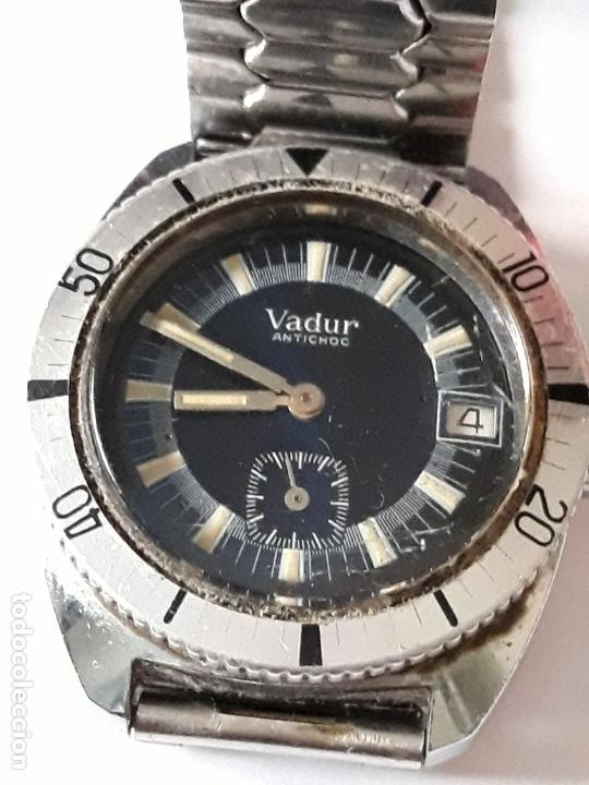 Relojes de pulsera: reloj de pulsera caballero carga manual vadur antichoc, funciona - Foto 2 - 167932936