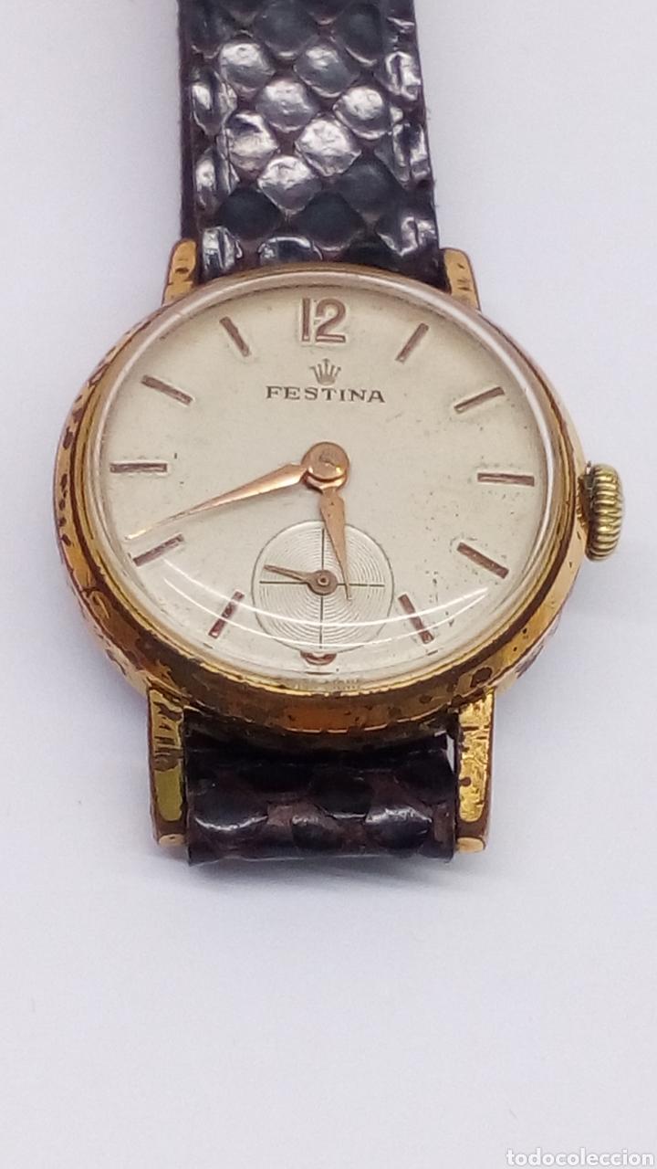 RELOJ FESTINA CARGA MANUAL CAJA 10 MICRAS EN FUNCIONAMIENTO VINTAGE (Relojes - Pulsera Carga Manual)