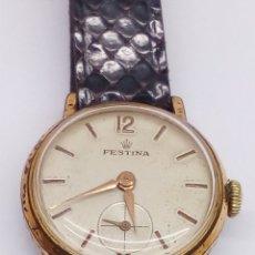 Relojes de pulsera: RELOJ FESTINA CARGA MANUAL CAJA 10 MICRAS EN FUNCIONAMIENTO VINTAGE. Lote 167970558