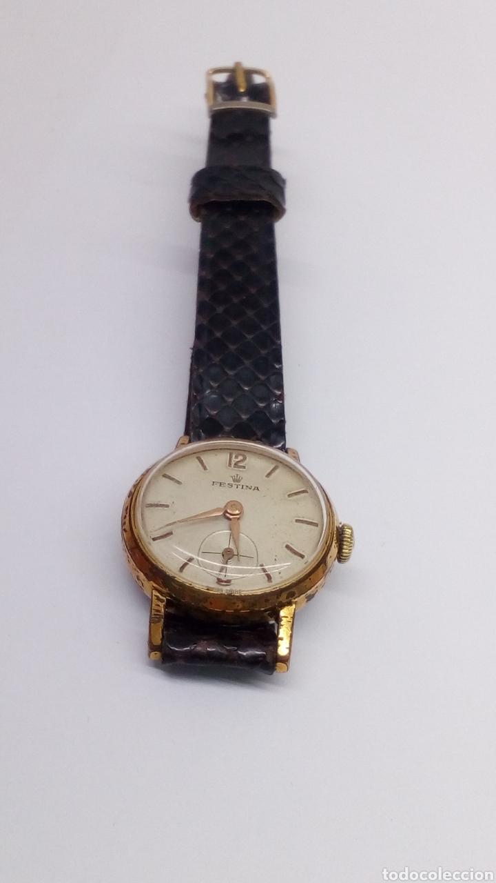 Relojes de pulsera: Reloj festina carga manual caja 10 micras en funcionamiento vintage - Foto 2 - 167970558