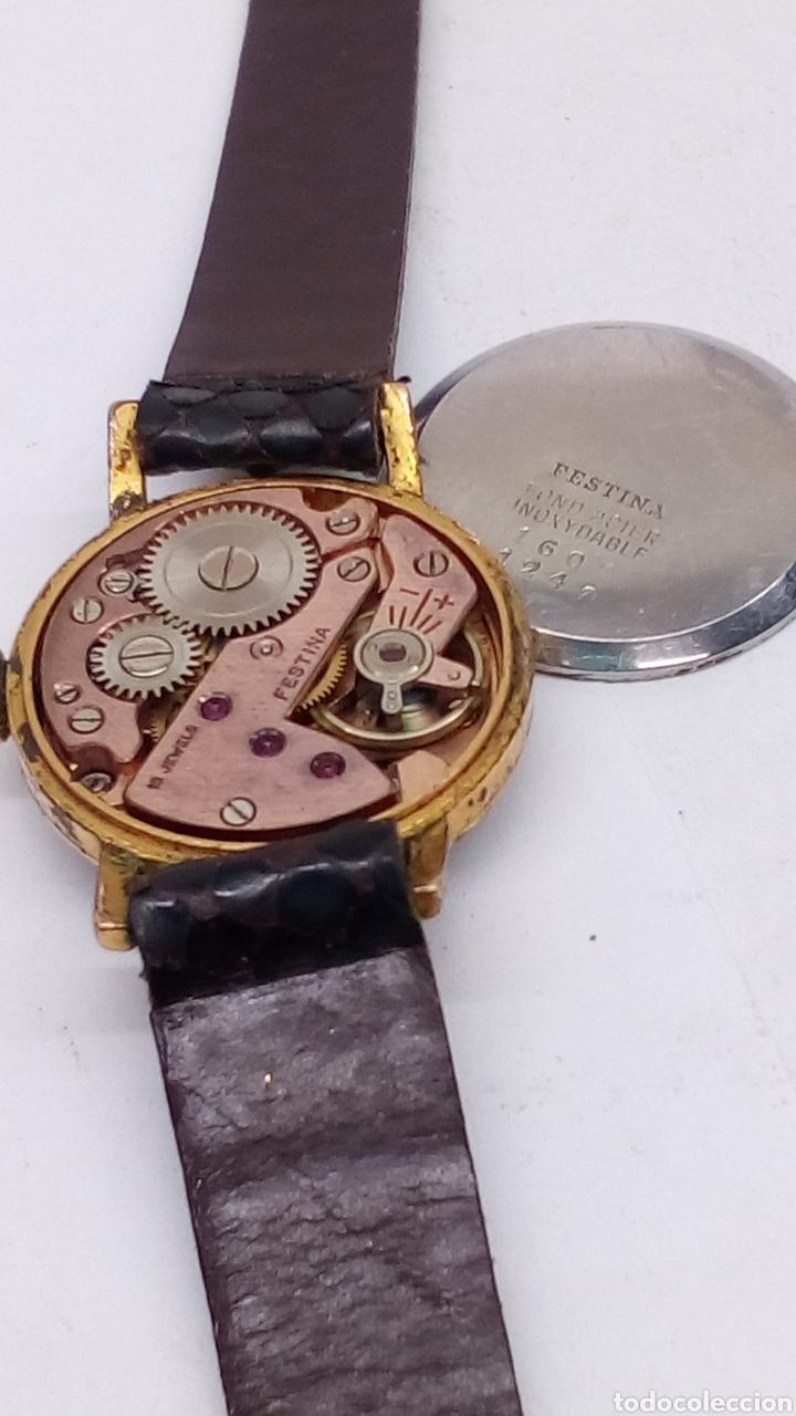 Relojes de pulsera: Reloj festina carga manual caja 10 micras en funcionamiento vintage - Foto 3 - 167970558