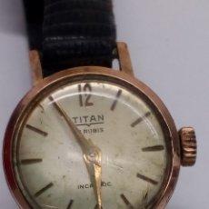 Relojes de pulsera: RELOJ TITAN CARGA MANUAL CAJA CHAPADA EN FUNCIONAMIENTO VINTAGE. Lote 167973349