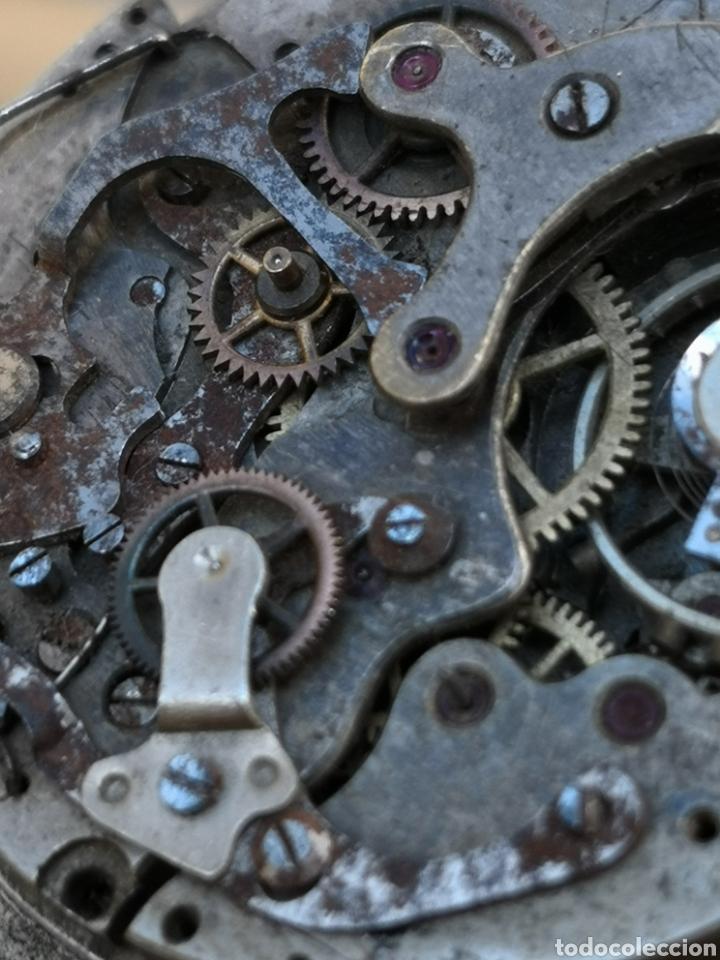 Relojes de pulsera: Maquinaria cronografo vintage PIEZAS años 40/50 - Foto 3 - 167995093