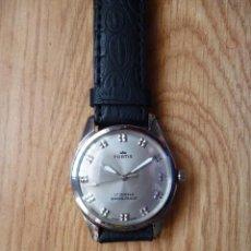 Relojes de pulsera: RELOJ SUIZO FORTIS VINTAGE HOMBRE 40 MM HASTA CORONA Y 45MM FUNCIONA PARECE NUEVO DE CUERDA . Lote 168185044