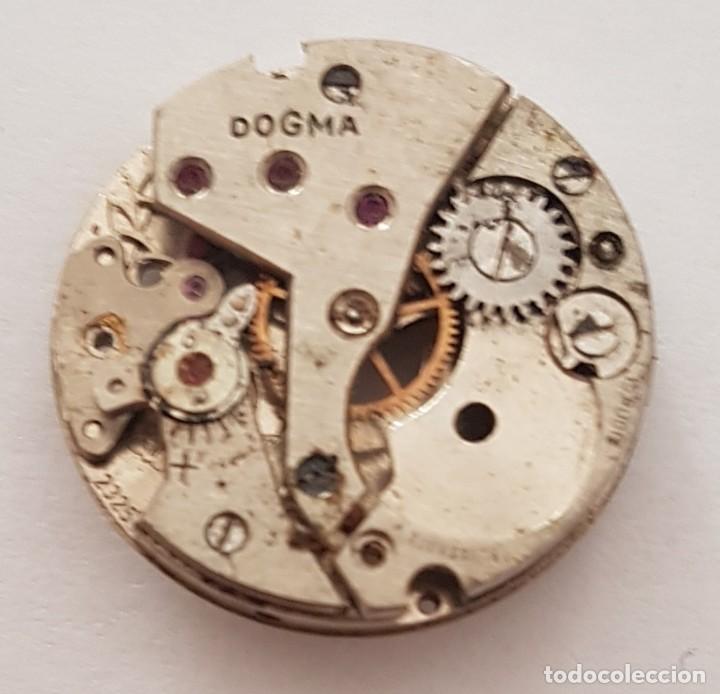 ANTIGUA MAQUINARIA DE RELOJ DOGMA PARA REPARAR O DESPIECE . (Relojes - Pulsera Carga Manual)