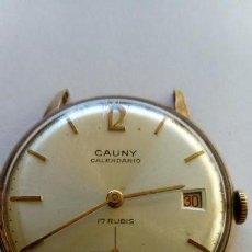 Relojes de pulsera: RELOJ CAUNY PRIMA CALENDARIO . Lote 168499272