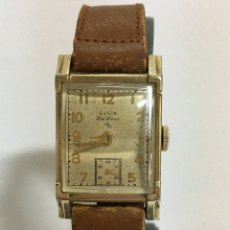 Relojes de pulsera: RELOJ ELGIN DE LUXE DE CUERDA DE LOS AÑOS 50. Lote 168620597