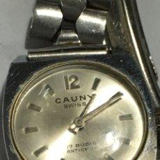 Relojes de pulsera: RELOJ CAUNY PRIMA CARGA MANUAL MODELO VINTAGE EN FUNCIONAMIENTO. Lote 168745697