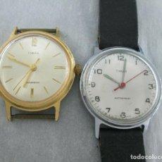 Relojes de pulsera: 2 RELOJES TIMEX HAY QUE REVISAR Y PONER CORONA NO FUNCIONAN 30 MM SCC.. Lote 168786868