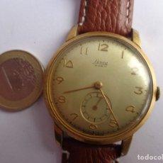 Relojes de pulsera: ANTIGUO AÑOS 50 ENORME Y BONITO RELOJ CABALLERO CUERDA LANCO BUEN ESTADO FUNCIONANDO. Lote 169213304