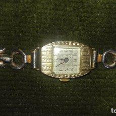 Relojes de pulsera: RELOJ SEÑORA KJ.SUIZO.CHAPADO EN ORO.AÑOS 20. Lote 100435651