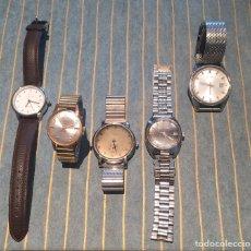 Relojes de pulsera: LOTE 5 RELOJES: SEIKO,CAUNY.CONTEX.ANCORA.ORIENT. Lote 169606528