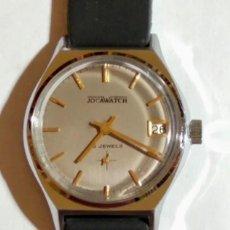 Relojes de pulsera: JOCAWATCH MOVIMIENTO A CUERDA CAL.FE 233-66. 34 M/M.C/C.-NUEVA CORREA DE GOMA.FUNCIONA BIÉN .. Lote 169753756