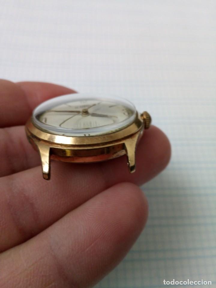 Relojes de pulsera: Reloj antiguo Gladiator de carga manual, eje volante bien pero no funciona, para reparar - Foto 5 - 170361284