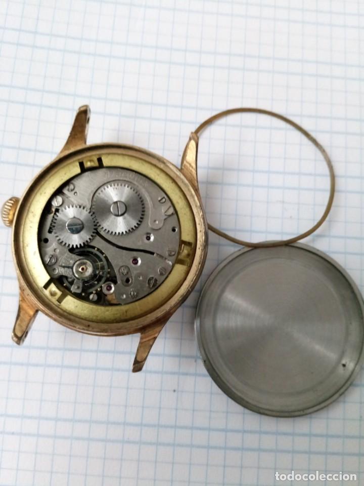 Relojes de pulsera: Reloj antiguo Gladiator de carga manual, eje volante bien pero no funciona, para reparar - Foto 7 - 170361284