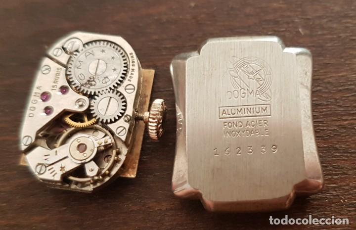 Relojes de pulsera: Antiguo reloj señora Dogma 18mm 15 rubis reparar o despiece - Foto 2 - 170437088