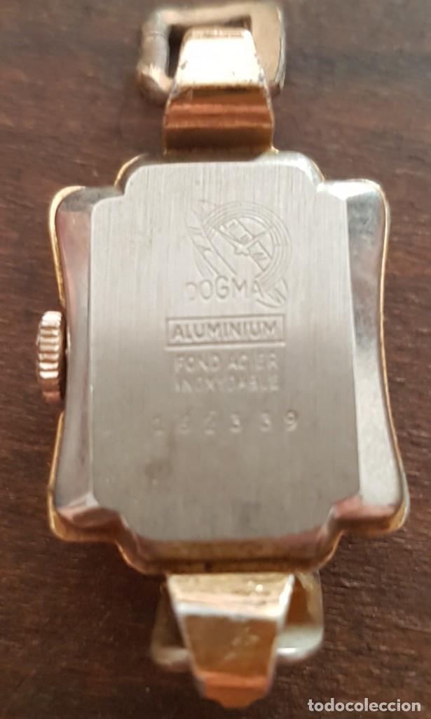 Relojes de pulsera: Antiguo reloj señora Dogma 18mm 15 rubis reparar o despiece - Foto 4 - 170437088