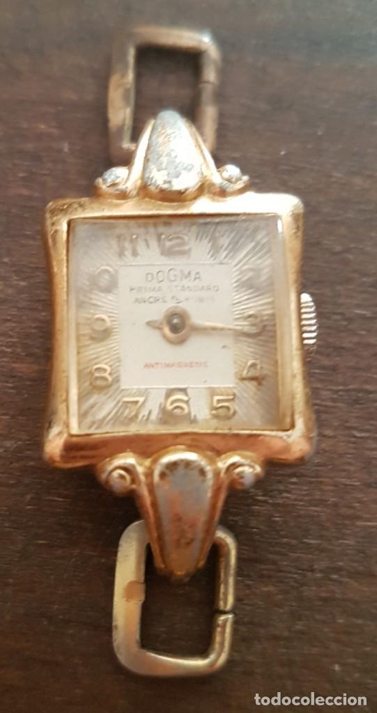 Relojes de pulsera: Antiguo reloj señora Dogma 18mm 15 rubis reparar o despiece - Foto 5 - 170437088