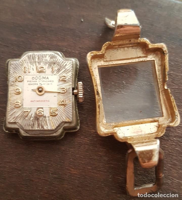 Relojes de pulsera: Antiguo reloj señora Dogma 18mm 15 rubis reparar o despiece - Foto 6 - 170437088