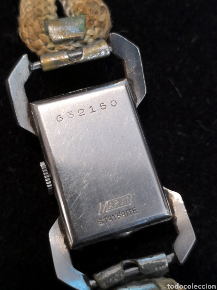 Relojes de pulsera: Antiguo reloj de mujer marvin - Foto 3 - 170497824