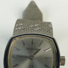 Relojes de pulsera: RELOJ DE PULSERA EN ACERO PARA MUJER. 17 RUBIS. SANDOZ. (CIRCA 1960) SUIZA. Lote 170691525