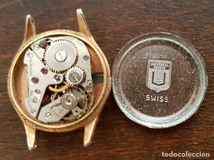 ANTIGUO RELOJ SEÑORA CHAPADO EN ORO LANDI SUIZO UNIVERSAL GENEVE 17RUBIS 19MM PARA REPARAR ODESPIECE (Relojes - Pulsera Carga Manual)
