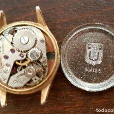 Relojes de pulsera: ANTIGUO RELOJ SEÑORA CHAPADO EN ORO LANDI SUIZO UNIVERSAL GENEVE 17RUBIS 19MM PARA REPARAR ODESPIECE. Lote 179108205