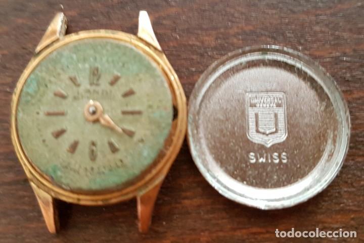 Relojes de pulsera: Antiguo reloj señora chapado en oro Landi Suizo Universal Geneve 17rubis 19mm para reparar odespiece - Foto 2 - 179108205