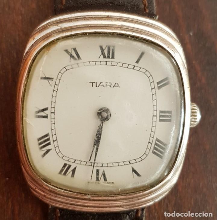 ANTIGUO RELOJ SUIZO TIARA 17 RUBIS 30 MM FUNCIONA (Relojes - Pulsera Carga Manual)