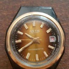 Relojes de pulsera: ANTIGUO RELOJ ANTIC CAJA ACERO LACADA EN NEGRA 27 MM PARA REPARAR O DESPIECE. Lote 170966340
