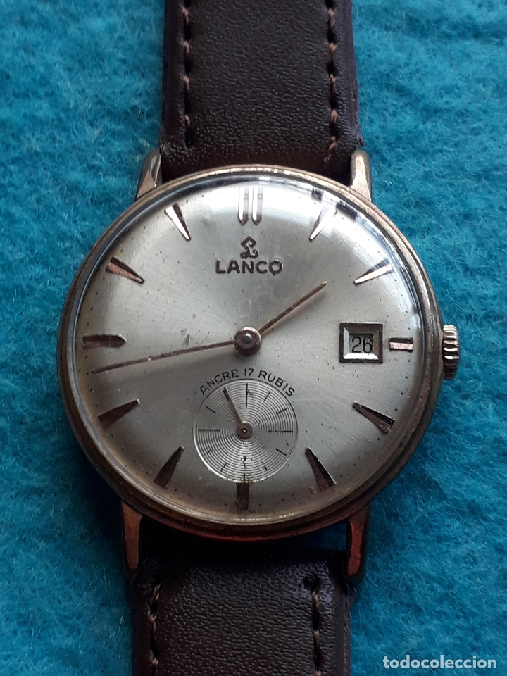 Relojes de pulsera: Reloj Marca Lanco. Clásico de Caballero. Funcionando - Foto 8 - 170976737
