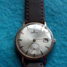 Relojes de pulsera: RELOJ MARCA LANCO. CLÁSICO DE CABALLERO. FUNCIONANDO. Lote 170976737