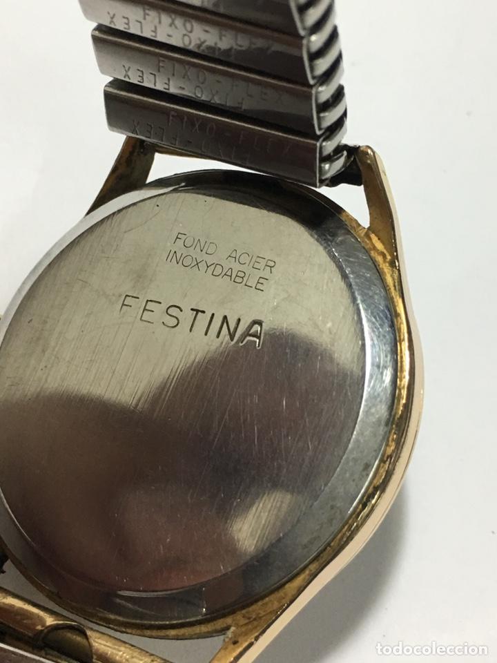 Relojes de pulsera: Reloj Festina carga manual y caja chapada oro maquinaria Swiss made - Foto 5 - 171126769