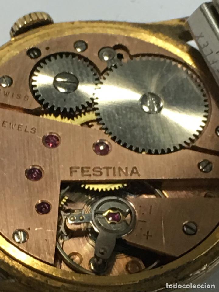 Relojes de pulsera: Reloj Festina carga manual y caja chapada oro maquinaria Swiss made - Foto 6 - 171126769