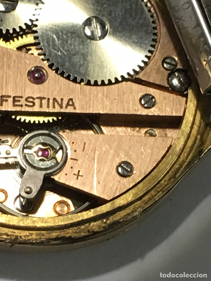 Relojes de pulsera: Reloj Festina carga manual y caja chapada oro maquinaria Swiss made - Foto 7 - 171126769