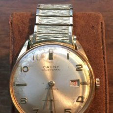 Relojes de pulsera: RELOJ CAUNY PRIMA CHAPADO EN ORO 10 MICRONES. FUNCIONANDO.. Lote 171341887