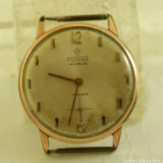 Relojes de pulsera: POTENS MECANICO CLASICO CHAPADO EN ORO 33.7MM. Lote 171626280
